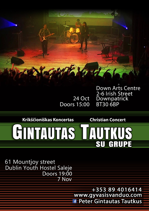 Koncertai Downpatrick ir Dublin